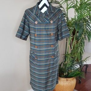Union Made Vintage Plaid Dress